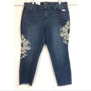 Style & Co. NWT 18W Skinny Ankle Jeans Raw Cuff